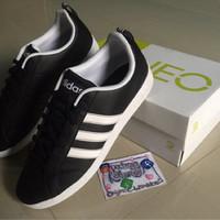Sepatu Casual Adidas Neo Advantage Black Stripes White Leather Murah afe6ffc315