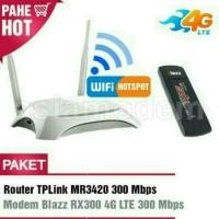 Paket Modem 4G Wireless Router TP Link MR3420 USB Pasang Online