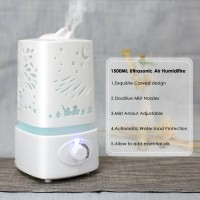 Carved Design Air Humidifier Large Ultasonic Aroma Diffuser -1.5L