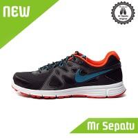 Diskon Sepatu Running Original Nike Revolution 2 MSL Black Blue BNWB