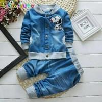 Baju Setelan Anak Laki-Laki - SeTelan SNOOPY DENIM KID