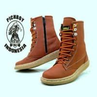 Jual  sepatu boots wanita pichboy original casual zipper sleting t T0210 Murah