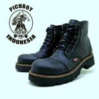 Jual  sepatu boots safety pria pichboy original under ground hitam T0210 Murah
