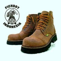 Jual  sepatu boots safety casual pria pichboy underground tracking T0210 Murah