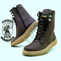 Jual  sepatu boots wanita pichboy original casual zipper tali coke T0210 Murah
