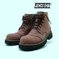 Jual  sepatu boots safety pria pichboy original under ground penta T0210 Murah