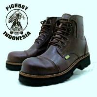 Jual  sepatu boots pria safety pichboy underground tracking formal T0210 Murah