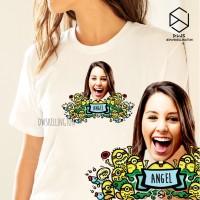 Kaos Custom Minion Doodle Hadiah Tshirt Pria Wanita