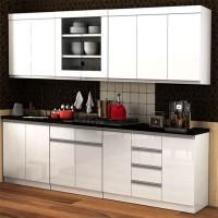 Lemari Dapur Satu Set Modern Minimalis Holland White Glossy