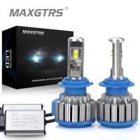 MAXGTRS Lampu LED utama Motor Mobil hi low waterproof Turbo Fan 8000Lm