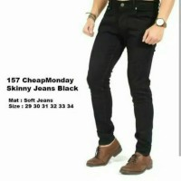 Jual Long Jeans Skinny Black Strecht / Celana Jeans Hitam Skinny Murah