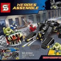 Jual Brick Lego bootleg 76055 SY 842 Batman Killer Croc Sewer Smash 807 Pcs Murah