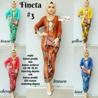 baju kebaya wanita fineta 3 batik unik trendi cantik modern