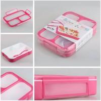 Jual Yooyee Kotak Makan Grid Bento Lunch Box 3 Sekat Anti Bocor (FP000579) Murah