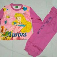 Baju tidur anak piyama karakter princess aurora Hong