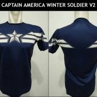 Jual T-Shirt / Kaos Captain America Winter Soldier V2 Murah