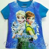 Jual Grosir Kaos Karakter Frozen Fever 1-6T Murah
