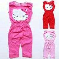 Jumpsuit Romper Kaos Anak Perempuan Cewek Hello Kitty HK Pink Merah