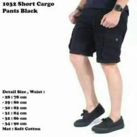 Jual Short Cargo Pants Black / Celana Kargo Pendek Hitam Murah