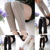 harga Leg Warmer Winter Knitted Crochet Long Tokopedia.com