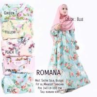 Murah Romana Maxi Dress Gamis Muslim Sateen Silky Ori Naura Bestseller