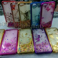softcase water glitter chrome oplo F3