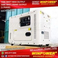 Diesel Genset / Generator Winpower 5000 Watt, Silent ,Electric (WP 5,5