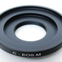 Adapter Lensa C Mount / CCTV To M4/3, Sony Nex, Fuji X, EOS M, Nikon 1