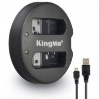 Kingma Charger Baterai 2 Slot Nikon D5200 D3100 D3200 D5100 EN EL14 Bl