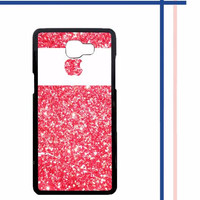 Casing HARDCASE untuk hp Samsung Galaxy A9 2016  A9 PRO Pink Glitter A