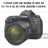 kamera canon EOS 6D MARK II KIT EF 24-70 F/4L IS USM (RESMI CANON)