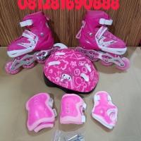 Jual Fullset Sepatu Roda Anak (Body protector+helm ) inline skate Murah