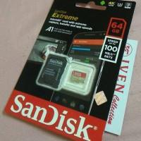 Jual Sandisk extreme 64gb microsd memory card 64 gb memori class 10 micro Murah