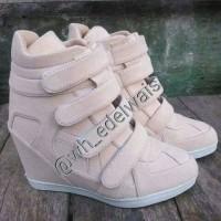 sepatu wanita sneaker hidden wedges kets heels boots korea nike