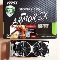 Jual VGA Nvidia GTX 950 2GB DDR5 OC (MSI Armor 2X) Murah