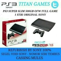 PS3 SUPER SLIM 500GB OFW FULL GAME REFURBISHED BY SONY + Stik Ori Sony