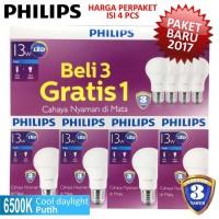 Lampu LED Bulb PHILIPS 13W Paket 3 Free 1 - 13 W Watt 13Watt