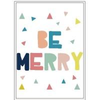 Poster Quotes Be Merry Dekorasi Kamar Anak Rumah Shabby Keluarga Home