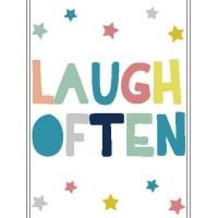 Poster Quotes Laugh Often Dekorasi Kamar Anak Rumah Shabby Keluarga