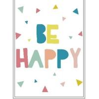 Poster Quotes Be Happy Dekorasi Kamar Anak Rumah Shabby Keluarga Home