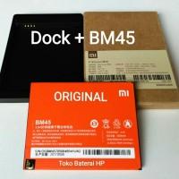 Jual Baterai Battery batre Xiaomi Redmi Note 2 BM45 + Dock Charge Original Murah