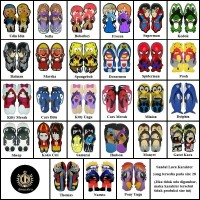 Jual Size 28 Sandal Sancu Karakter / Sandal Lucu Murah