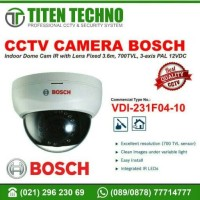 CCTV CAMERA BOSCH VDI-231F04-10 Fixed dome, 960H, 3.6mm, 12VDC, PAL