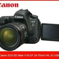 kamera canon EOS 6D MARK II KIT EF 24-70 F/4L IS USM(RESMI CANON)