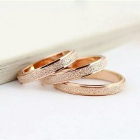 Jual cincin rose gold stainless steel kado spesial Murah