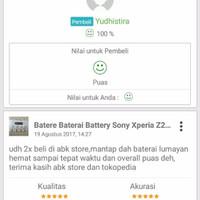 Batere Baterai Battery Sony Xperia Z2 Compact/Z2 Mini/ Sony Xperia A2