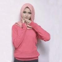 Jual TERLARIS  Sweater Rajut Roundhand Dusty Pink Bukan Parasut Parka Topi  Murah