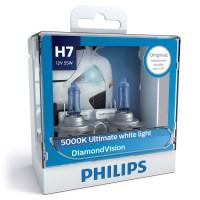 Philips Diamond Vision 5.000K H7 Bohlam Lampu Mobil Putih