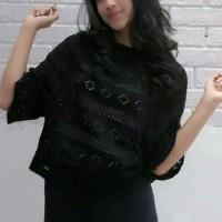 Jual BAJU WANITA ATASAN BLOUSE DRESS SWITER CROOPE JARING   CROP JARING   Murah