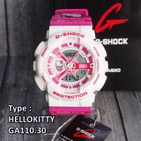 LIMITED EDITION CASIO HELLO KITTY G Shock GA110 Puith pink white jam